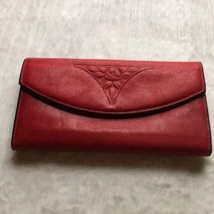 Vintage Red Rolf's Wallet Genuine Cowhide Leather